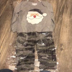 Mud pie camo Santa set!